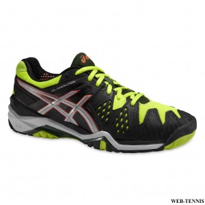 ASICS GEL RESOLUTION 6  ONYX/SILVER/FLASH YELLOW