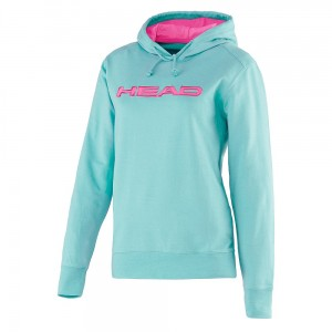 SWEAT A CAPUCHE HEAD TURQUOISE PINK
